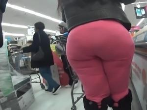 Spandex booty in leggings bbw