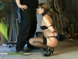 Caught & Delivered - Jocoboclips.com - Tied up blowjob oral