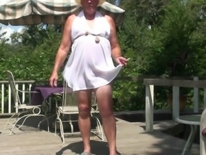 A Short Clip In A Short Dress
