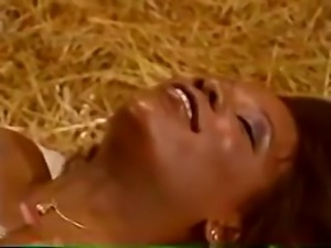 A thick ebony a black guy get it on in a barn