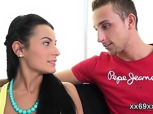 Stud assists with hymen checkup and shagging of virgin chick