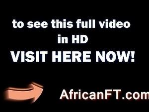 African slut bounces on white stiffie in hotel room