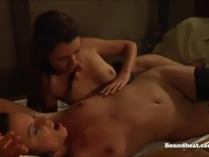 Sensual and Rough Lesbian Sex With Strapon