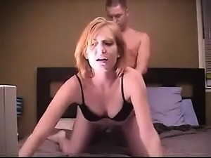 Sizzling amateur redhead gets banged from behind