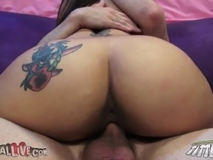 Bodacious cougar in heat Raylene getting drilled hard by a young stud