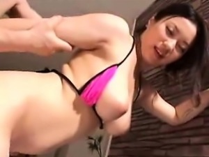 Big breasted Japanese milf sucks a thick cock and begs to b