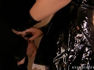 Luscious maid puts on her sexy outfit and has sex with her hung boss