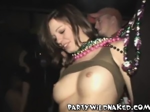Exciting party babes getting drunk and revealing their marvelous tits