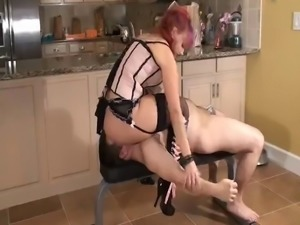 Mistress Smothers Slave & Teaches Him To Obey