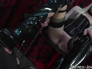 Mistress Ariel tortures cock and balls