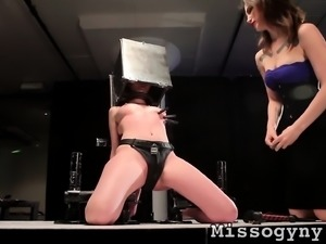 Gorgeous blonde Marie McCray submits to Mistress Indigo and MISSogyny