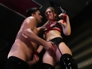 Tiedup submissive fingerfucked hard