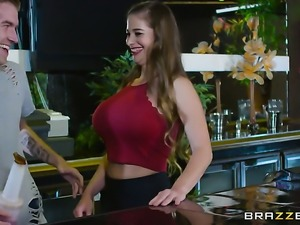 Danny D admires eye-popping Cathy Heavens body after