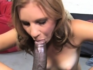 Hot babe gets fucked by big black dick