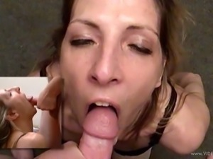 Marie Madison favours a man with a hot blowjob in hardcore video