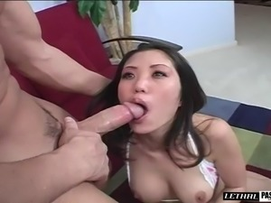 Asian chick called Kaiya thinks that she's ready for the anal bonking