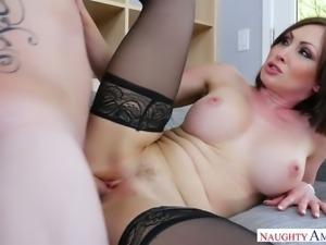 Curvy Yasmin Scott fucking damn passionately in Naughty America's fuck clip