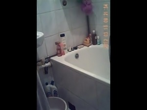 Blonde roommate Monika Caught on hidden cam