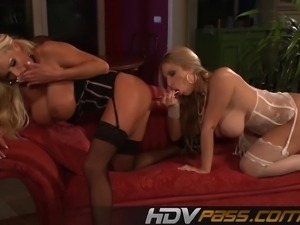 Two Blonde Huge Bobs Milf Nikita Blue Masturbate Playing With Dildo