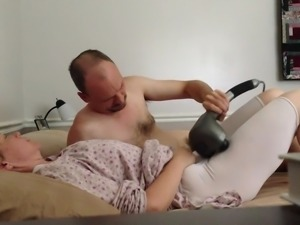 Pulsating vibrator orgasm, getting fucked in mormon garments