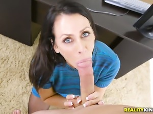 With giant tits and shaved cunt has fire in her eyes as she gets her mouth...