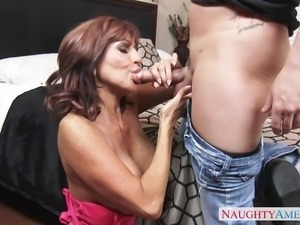 latin wife sucking lover's cock when husband is away