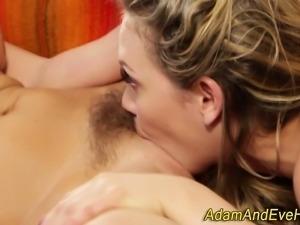 Sensual lesbians taste