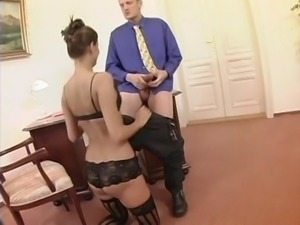 Hot kinky secretary fucking her boss