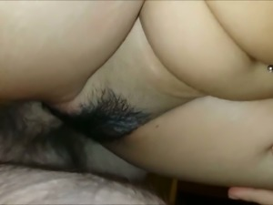 30 yo wife of my buddy jumps on his strong cock late at night
