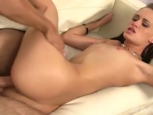Small tittied brunette hooker Kacey Lane got her kitty pounded in multiple...
