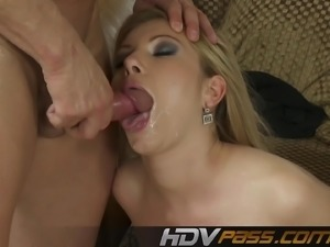 Blonde Babe Donna Belle Deepthroat and Fuck Hard