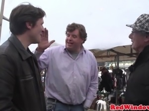 Longhaired dutch hooker gets nailed