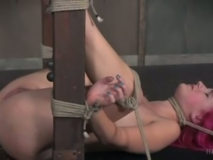 Submissive hoe KoKo Kitty is no stranger to rope bondage