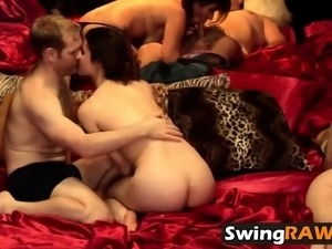 Amateur swinger reality show group oral fucking