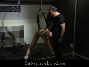 Slutty Mary bondage toyed spanked and fucked in discipline sub