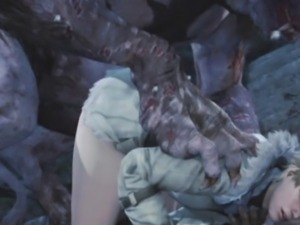 3D Girls Annihilated by Scary Monsters!