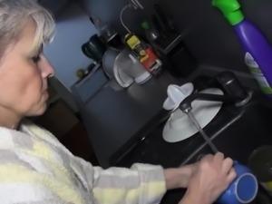 Hard working grandma gets reward sex