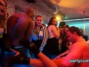 Slutty nymphos get absolutely mad and naked at hardcore part