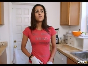 This all natural Brazilian maid sure knows how to heat things up
