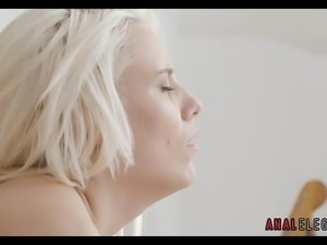 Blonde in Stockings gets Anal