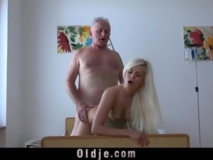 Busty Young Nurse Fucking Grandpa Cumming In Her Mouth