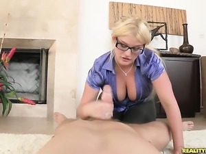 Erik Everhard bangs Horny Julie Cashs fuck hole in every position