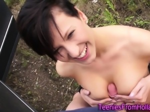 Teenage dutch hottie cum