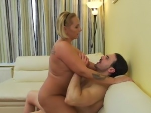She may be fat and mature, but this sexy lady still likes to fuck, and she...