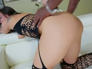 The only thing Aidra Fox wants in her pussy is his big black cock