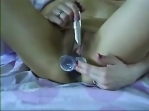 hot milf toys both her hungry holes
