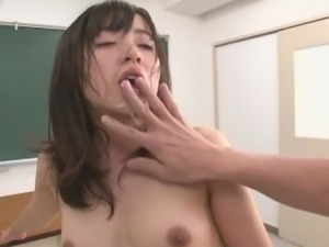 Asian cowgirl smashed hardcore by teacher till getting facial cumshot