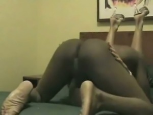 Sexy black stud fucking my pussy balls deep missionary style