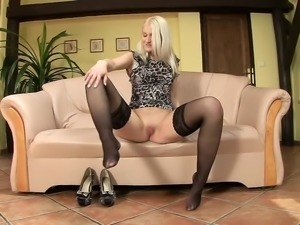 Ashley Love - gaping, pussy stretching, high heels, pantyhose