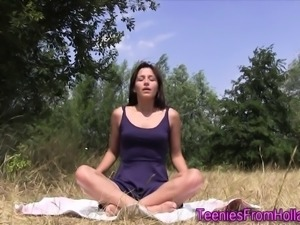 Dutch yoga teeny rubbing